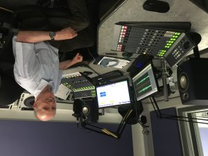 Rob Osborne of Red Knight Solutions at the Express FM studio