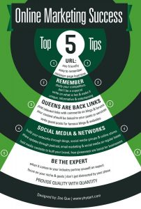 Top 5 tips for digital marketing success infographic